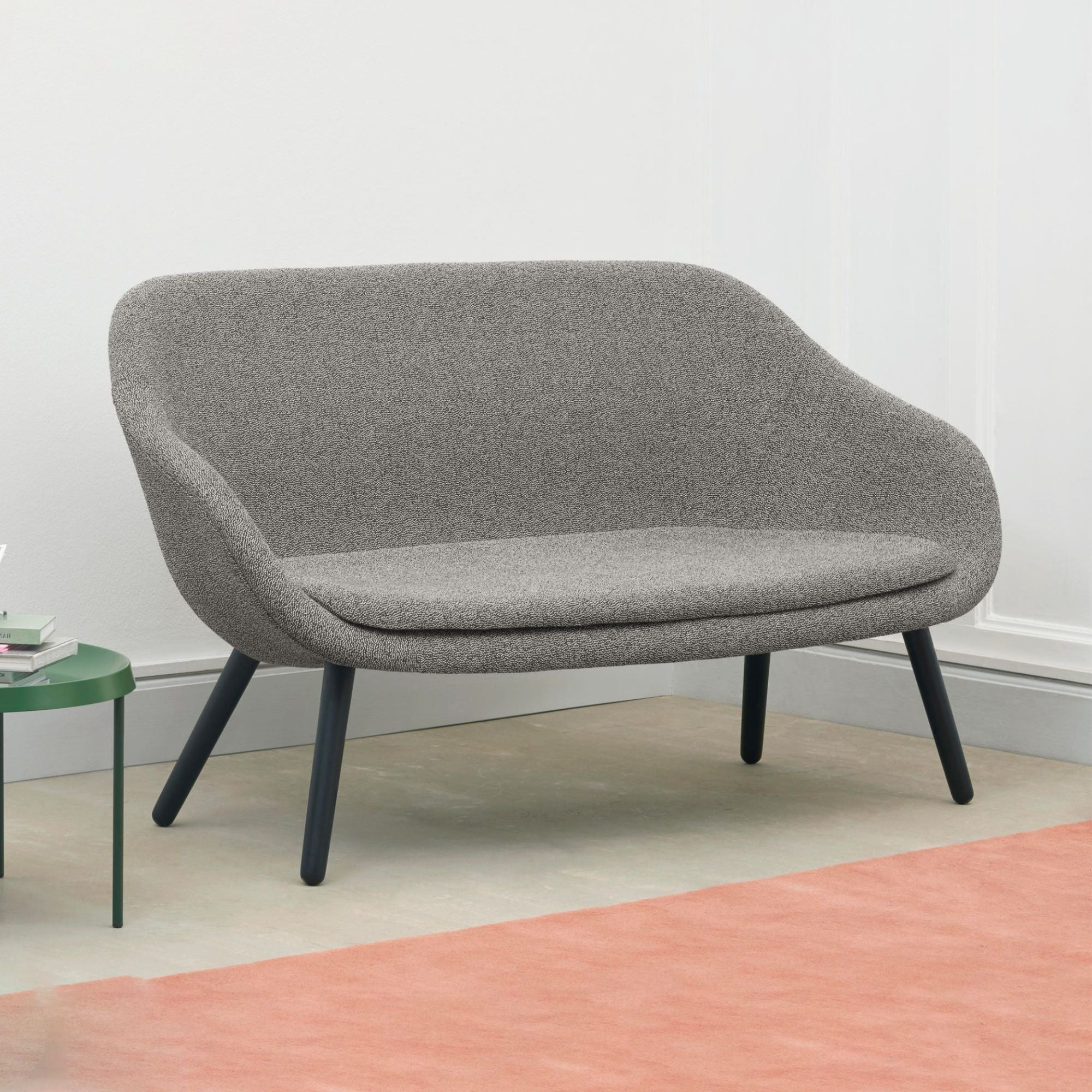 Hay AAL About A Lounge 2-Seater Sofa , Hallingdal116/Black