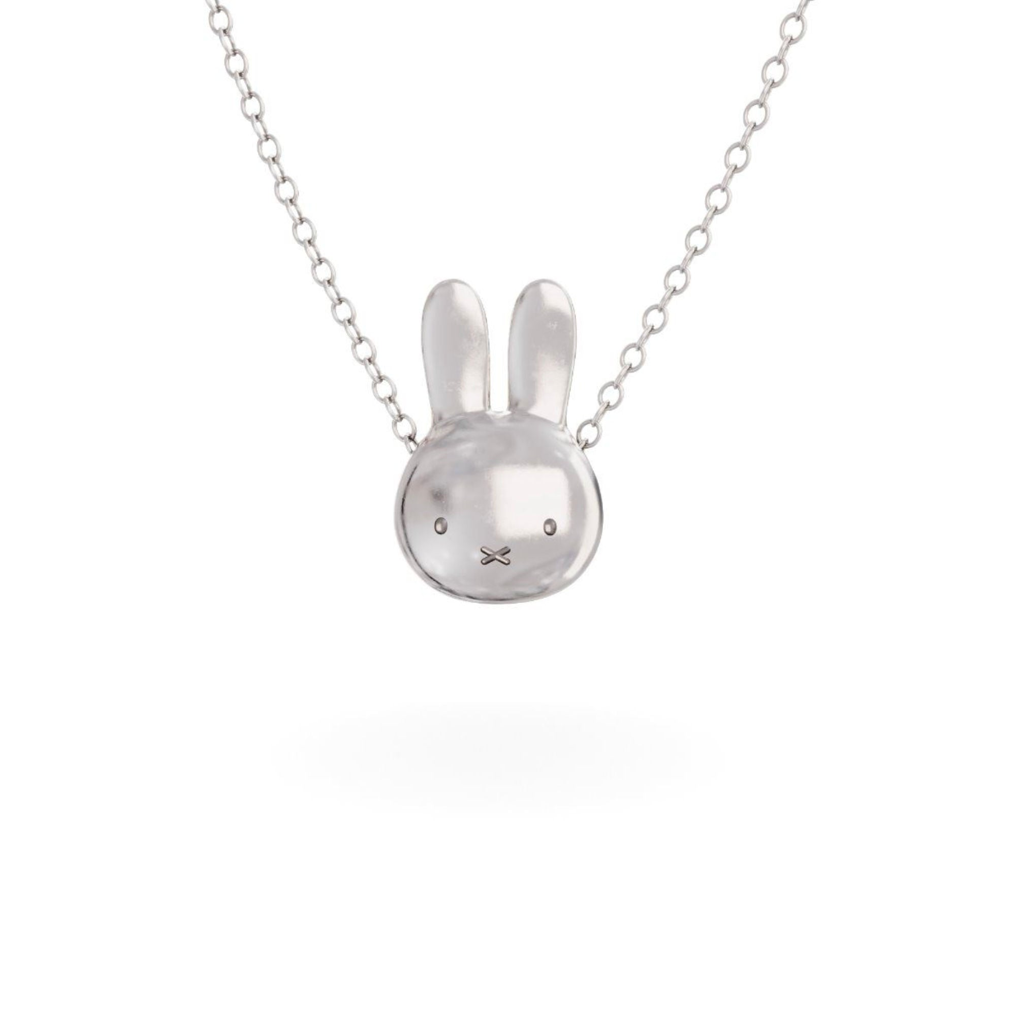 Miffy Sterling Silver Necklace Set , Large Head