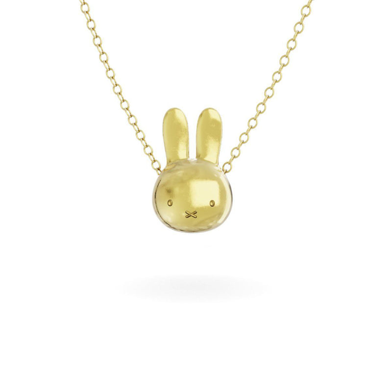 Miffy 18Ct Gold Vermeil Necklace Set , Large Head