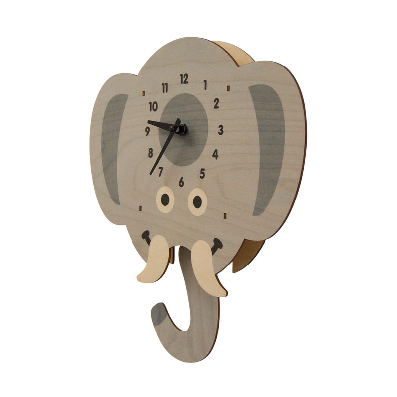 Modern Moose Pendulum Clock, elephant head