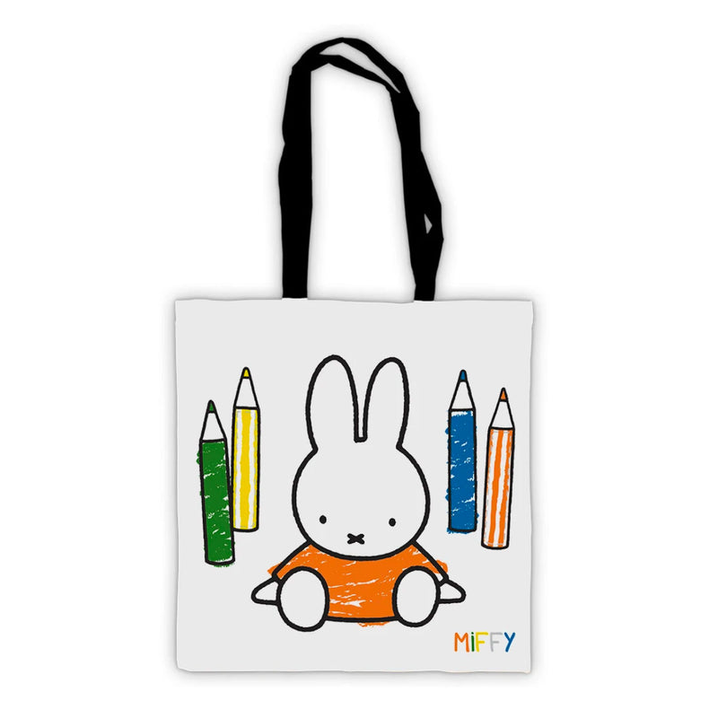 Miffy Tote Bag, colouring pencils