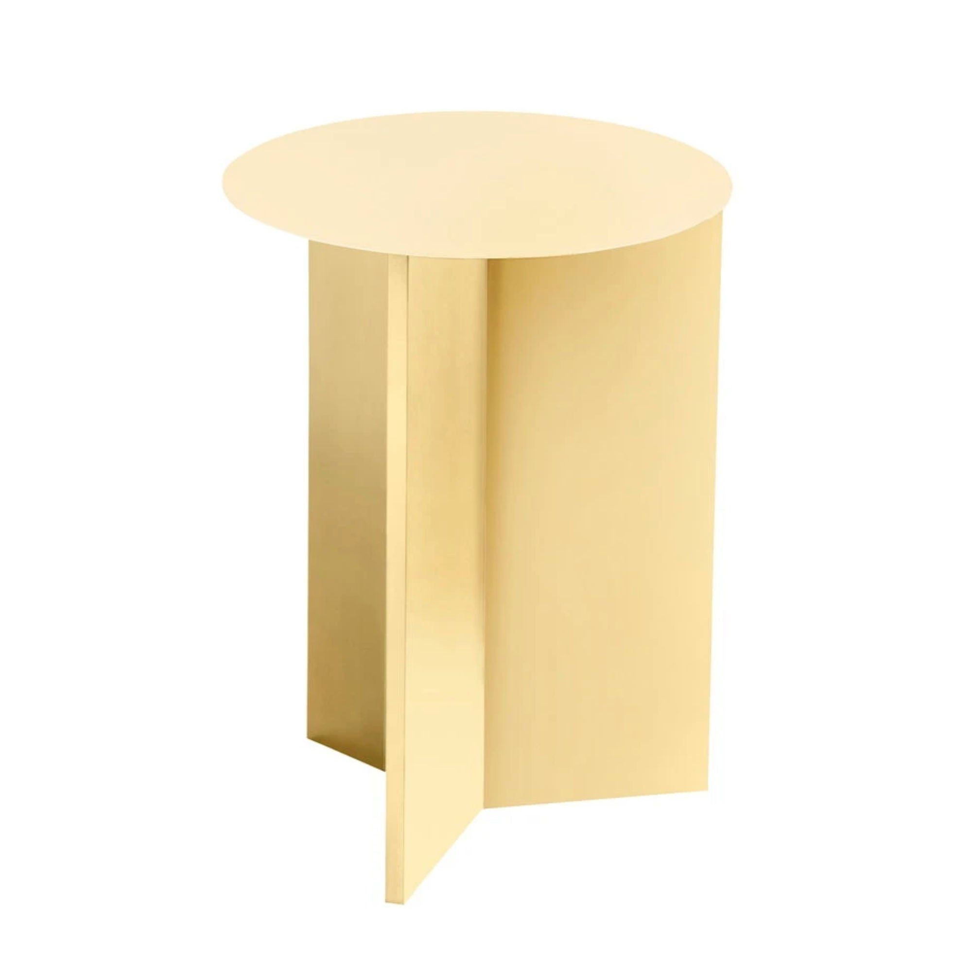 Hay Slit Side Table Round High Φ35 , Light Yellow