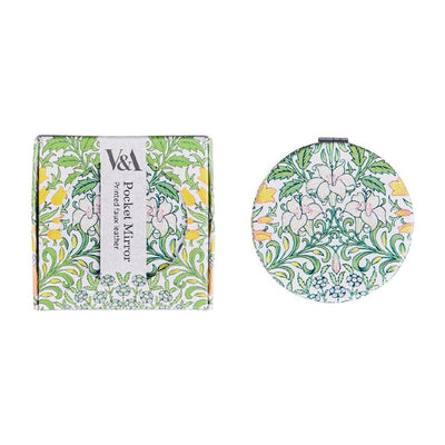 V&A William Morris Compact Mirror , Lily