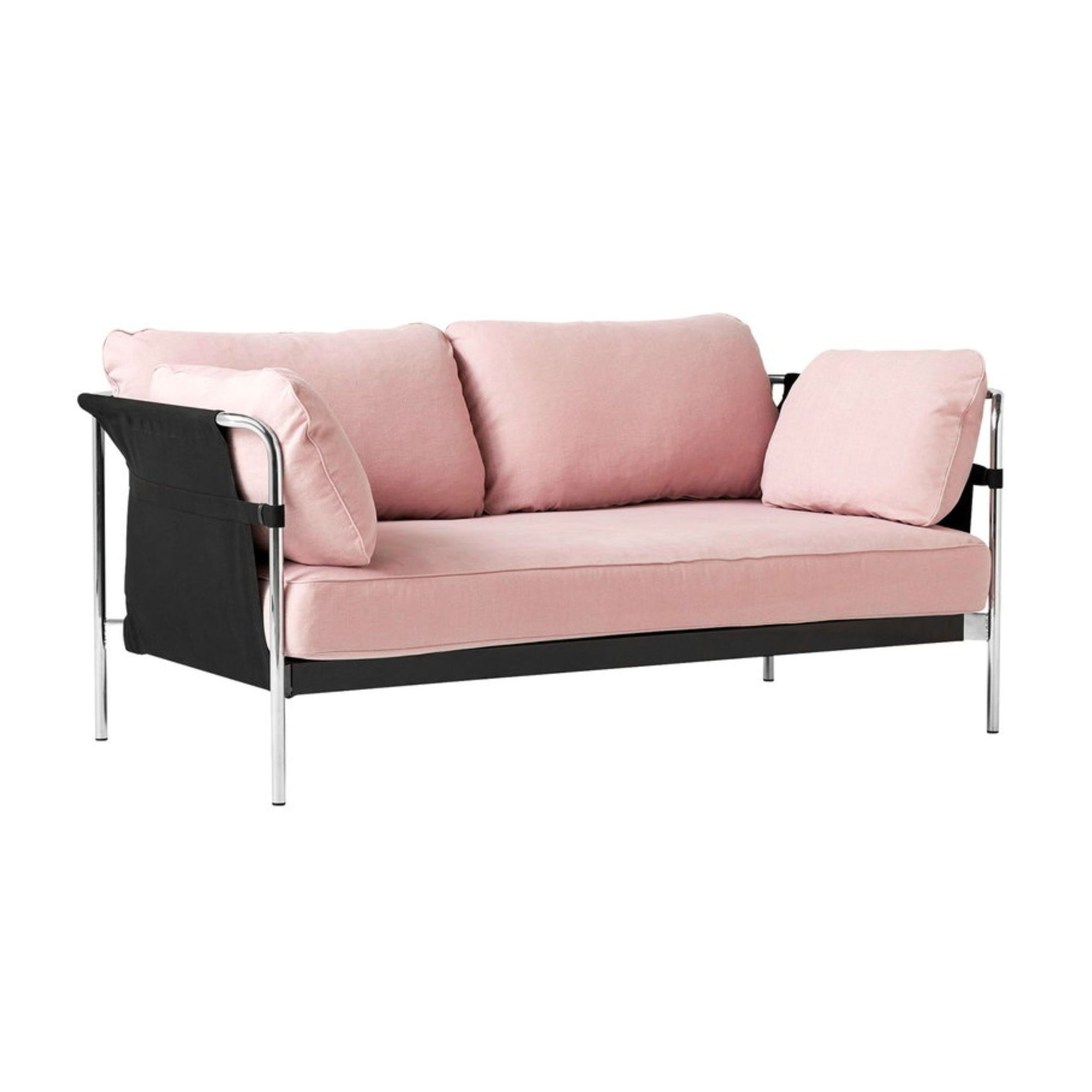 HAY Can 2-Seater Sofa 2.0, chrome - black - linara415