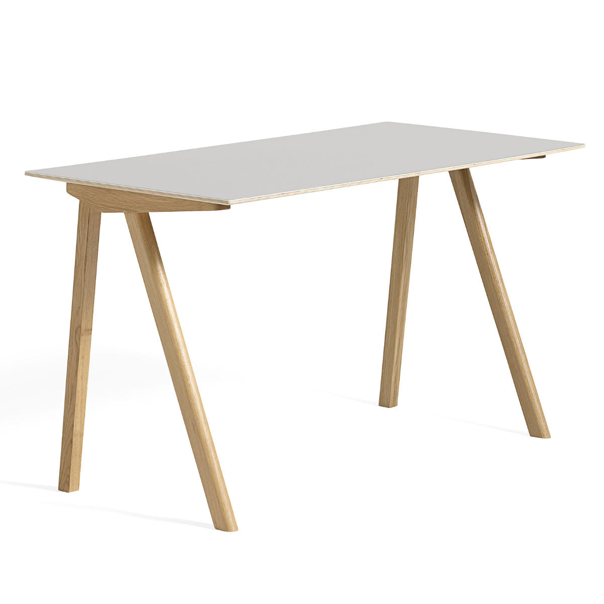 HAY CPH90 Desk, Clear Lacquered Oak/Off White Linoleum