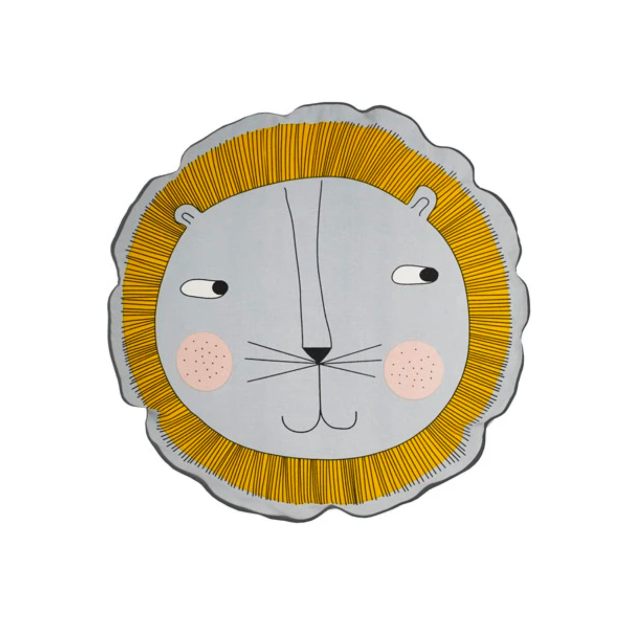 OYOY Lion cushion , light grey