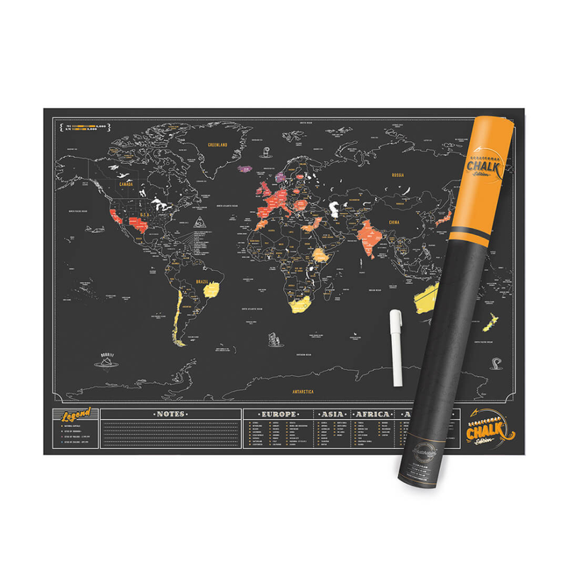 Luckies Scratch Map® Chalk 82.5x59.4cm
