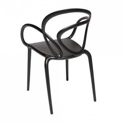 Qeeboo Loop outdoor chair, black