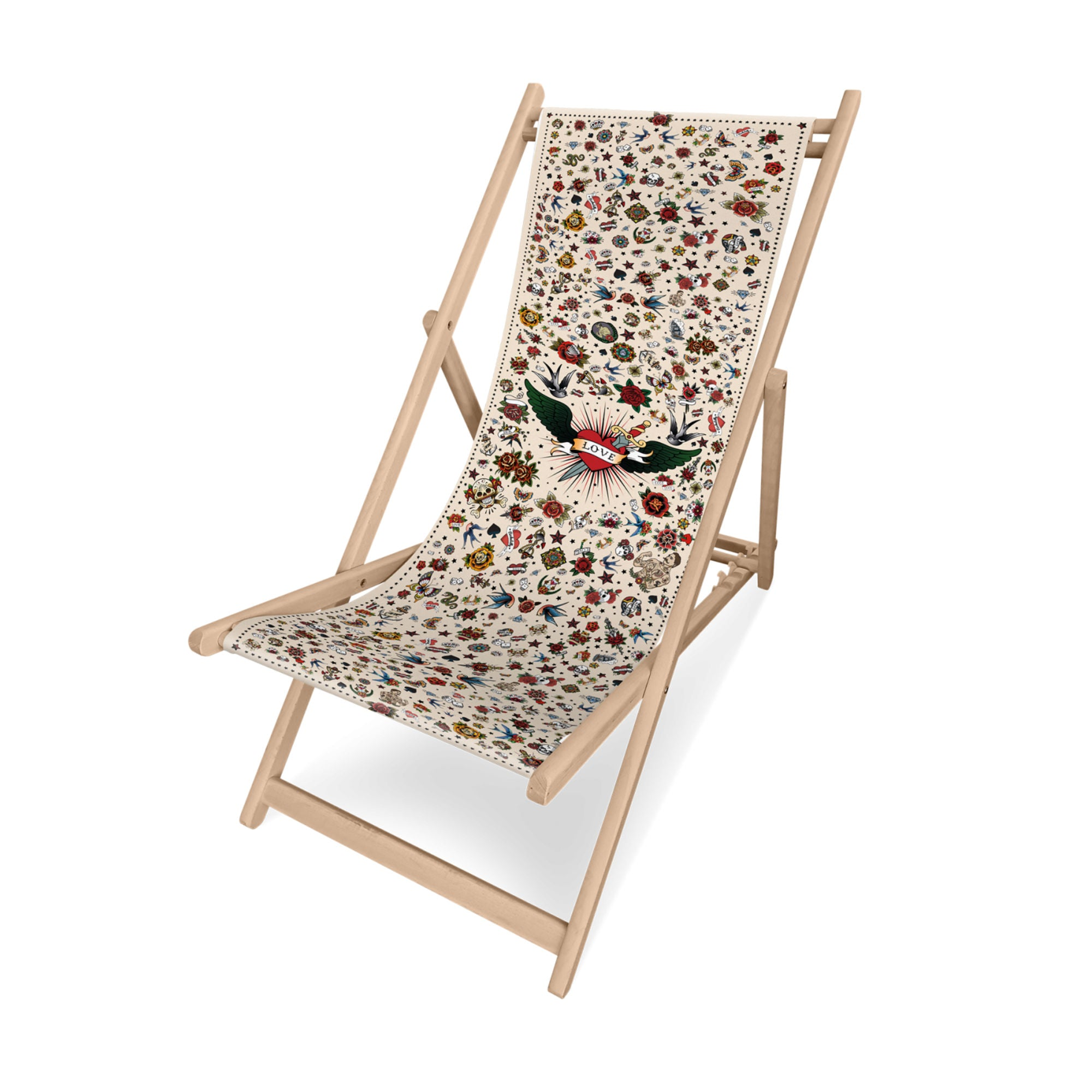Podevache Folding Deck Chair , Tattoo