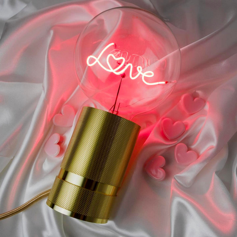 Message in the Bulb Love w. Rose Gold