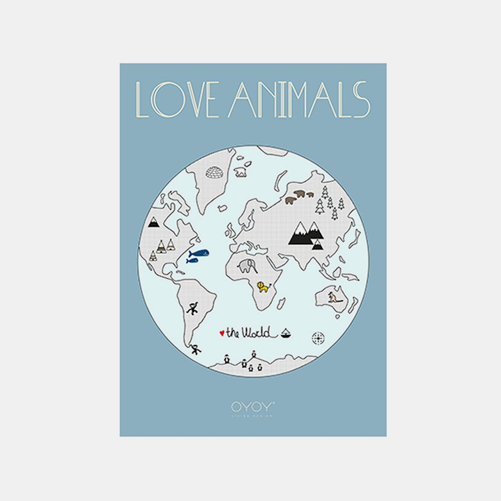 OYOY Love animal - The World Printed Poster