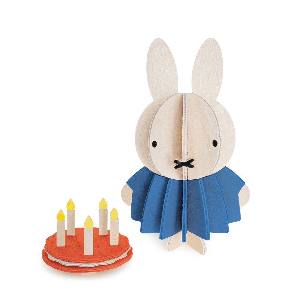 Lovi DIY Wooden Card . Miffy & Cake