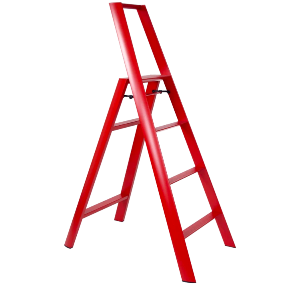 Metaphys Lucano step ladder, 4 steps, red