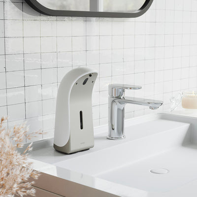 Umbra Emperor Sensor Soap Pump , White/Nickel