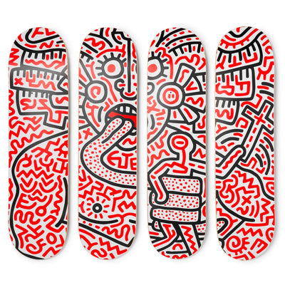 The Skateroom skateboard, Keith Haring Man and Medusa
