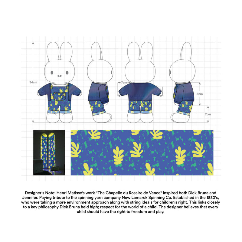 65 Years Limited Edition | Miffy Fashion Design plush doll 34cm , Matisse