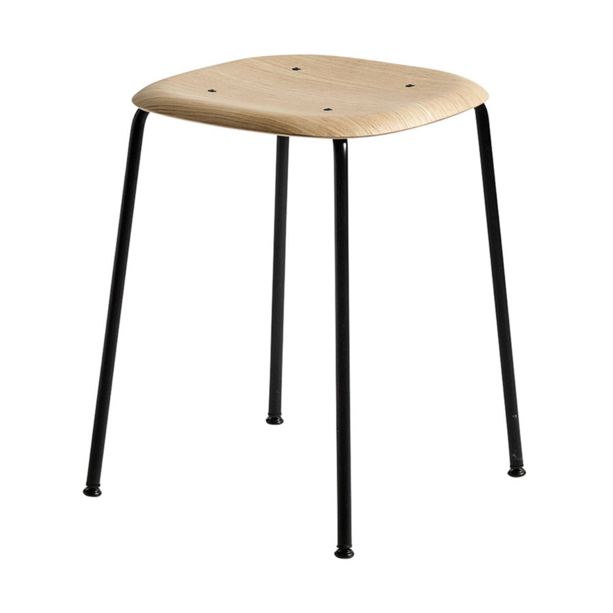 Hay Soft Edge 70 Stool , Matt Lacquered-Black Steel