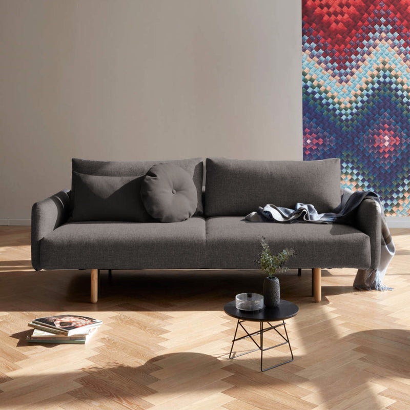 Innovation Living Frode Sofa Bed w. Arms , 521 Mixed Dance Grey