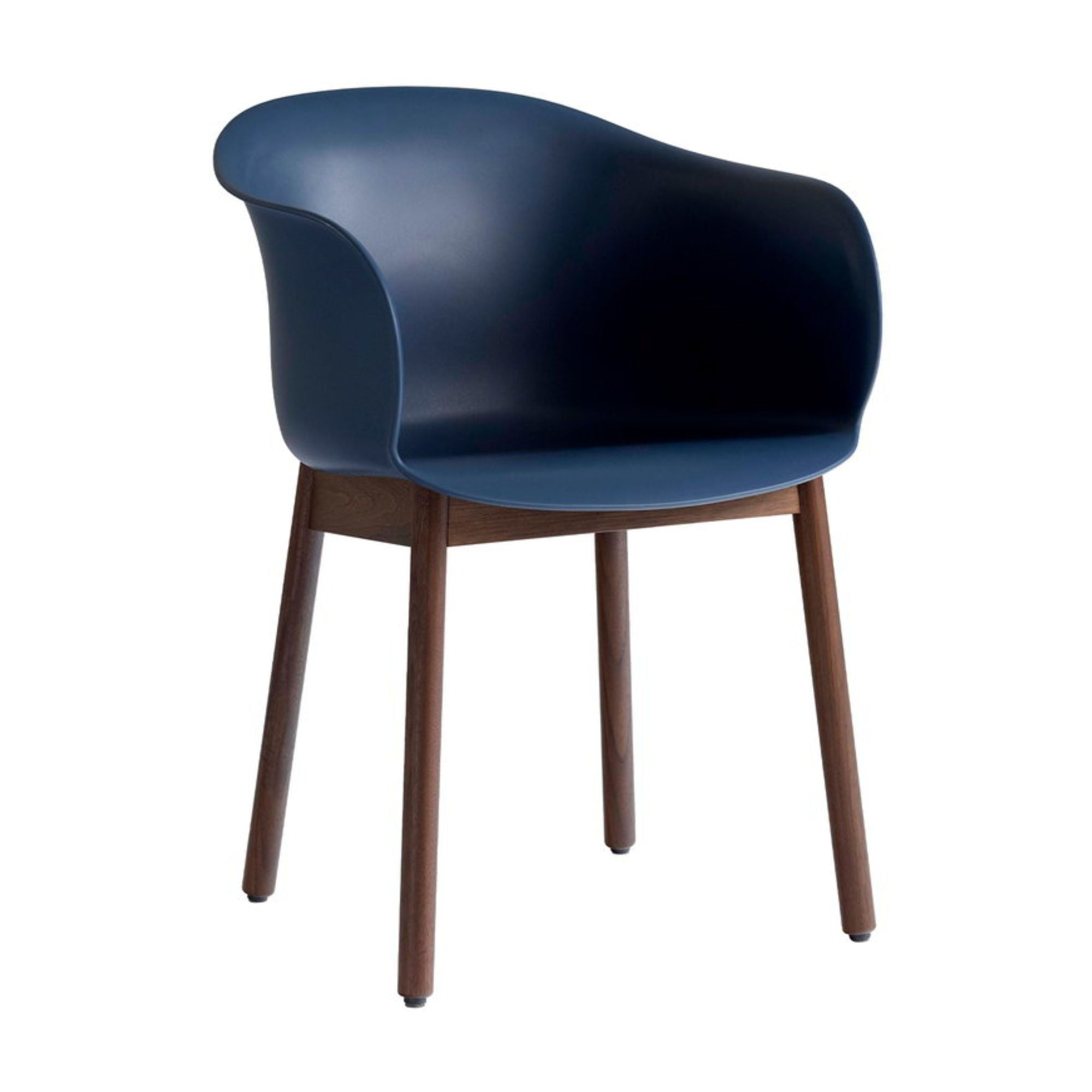 &Tradition JH30 Elefy Chair , Midnight Blue - Walnut