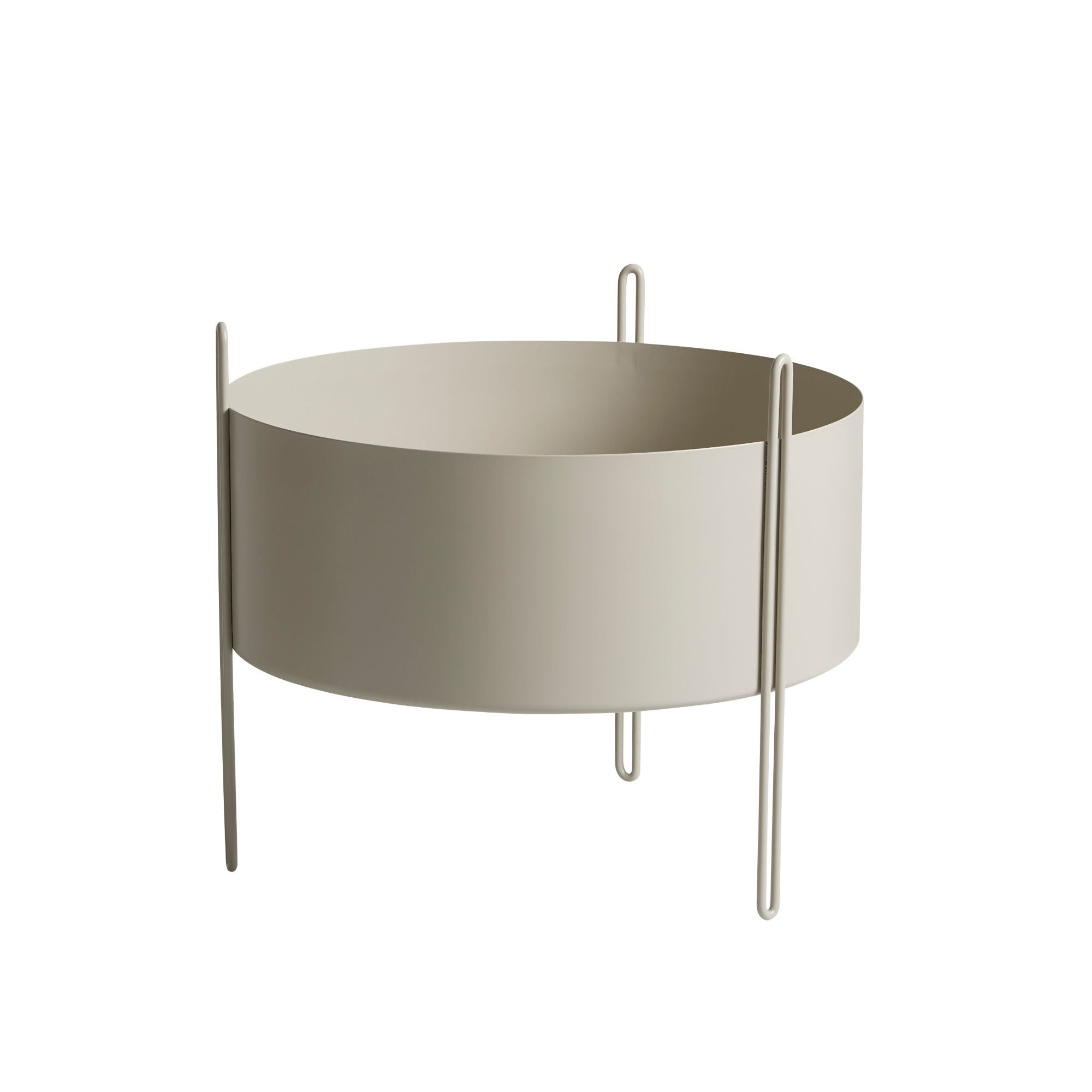 Woud Pidestall Planter Medium , Grey