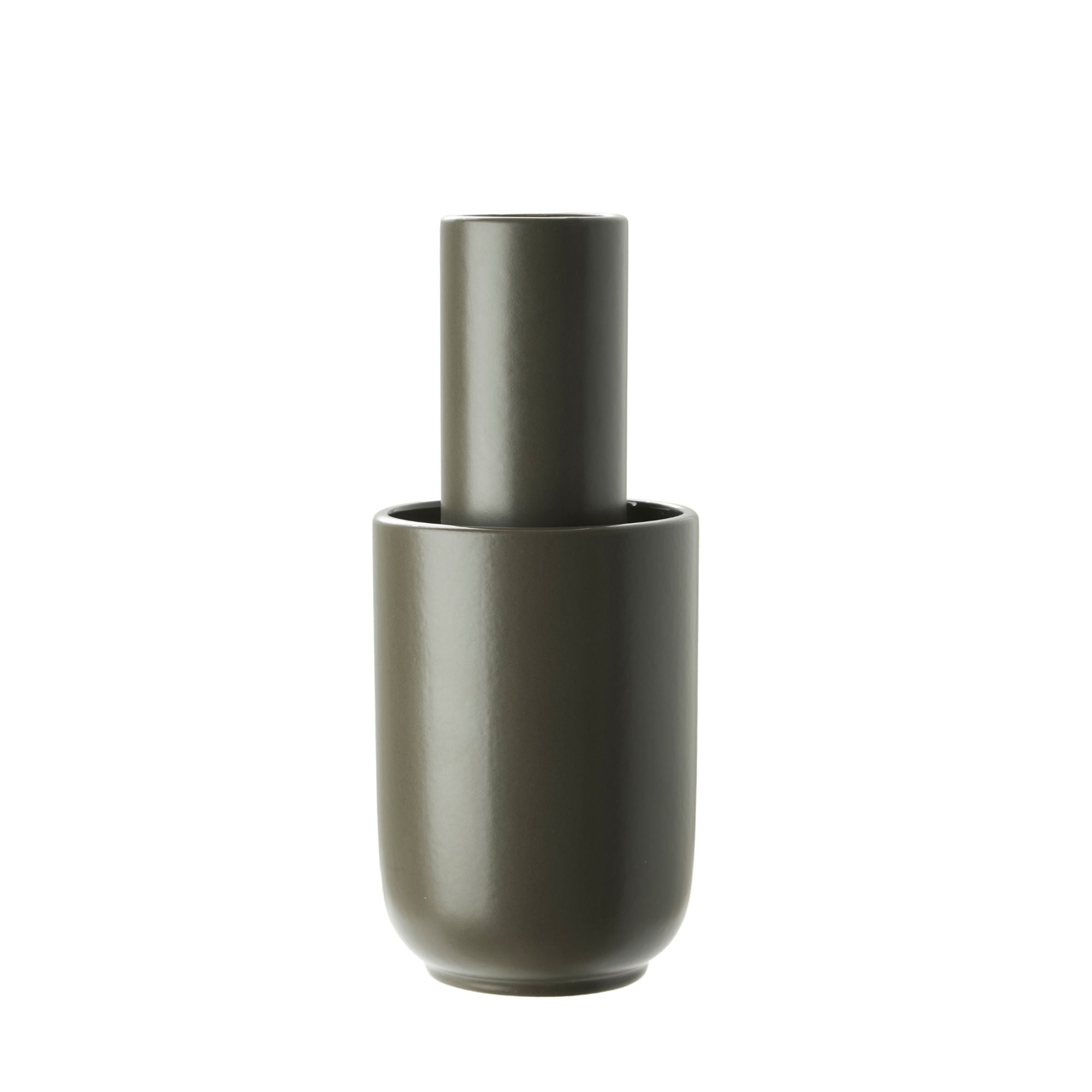 Woud Amel Vase Medium , Taupe Glazed