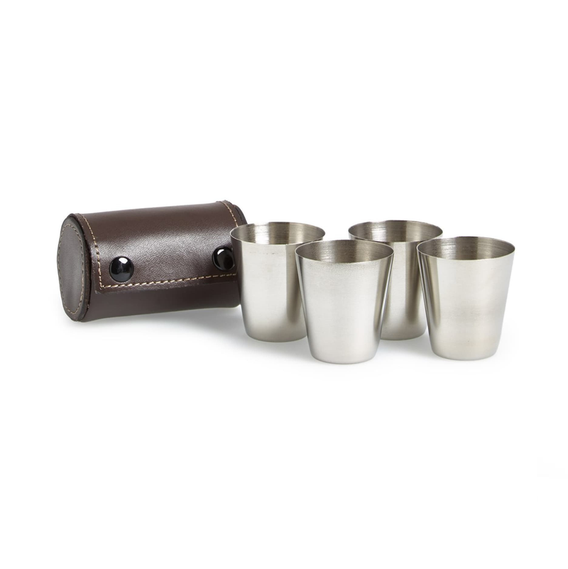 Kikkerland Metal Shot Glasses Set-of-4