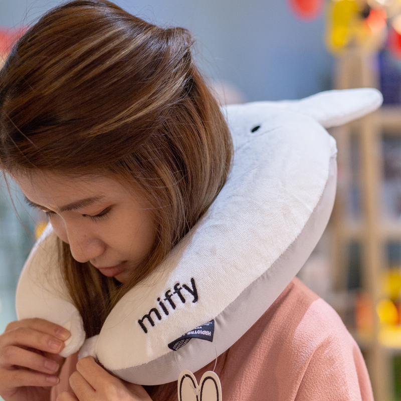 Miffy Neck Pillow, white