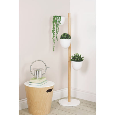 Umbra Floristand Planter , White/Natural