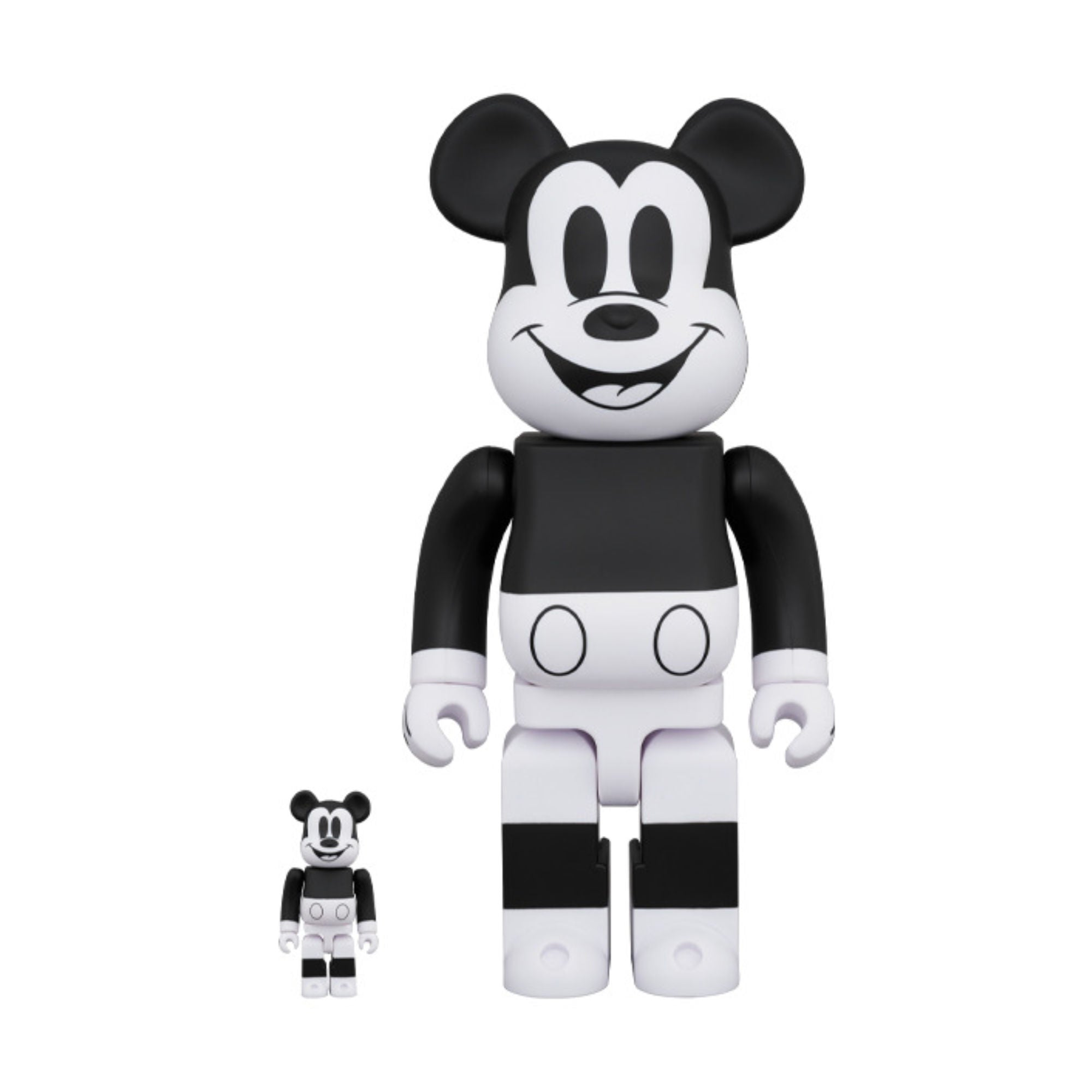 BE@RBRICK Mickey Mouse B&W 2020 Ver. 100% & 400%