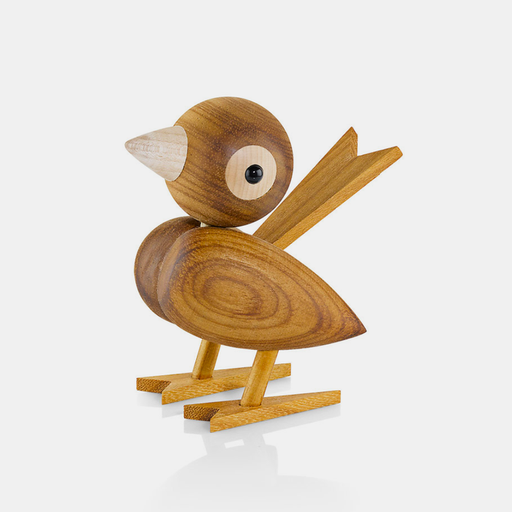 Wooden Sparrow . Medium in Chestnut