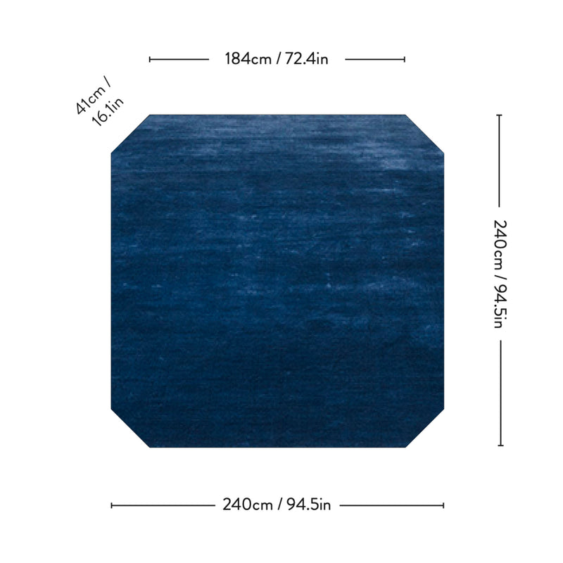 &Tradition AP6 The Moor Rug 240*240, blue midnight