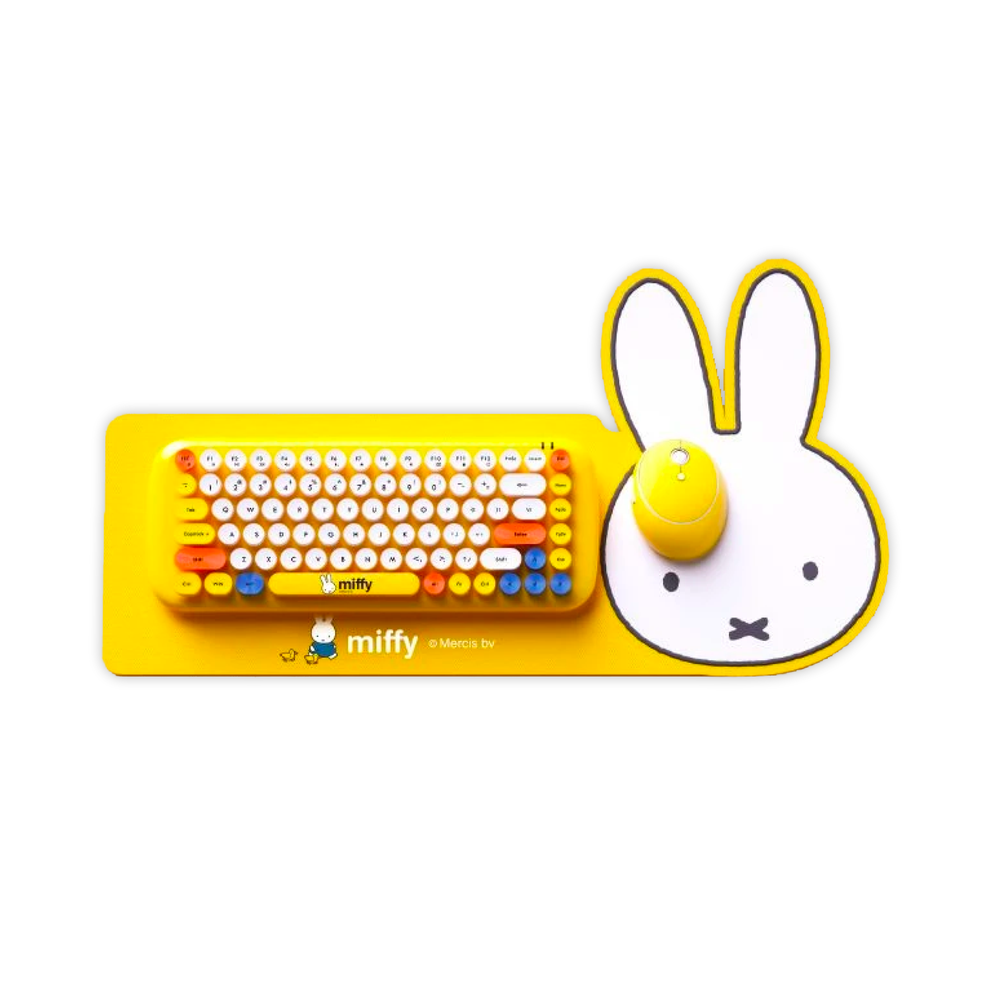 Miffy Wireless Keyboard Mouse Combo , Yellow