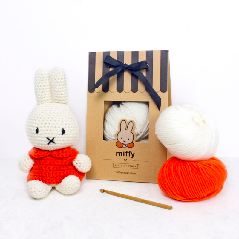 Stitch & Story UK Miffy Classic Amigurumi Crochet Kit