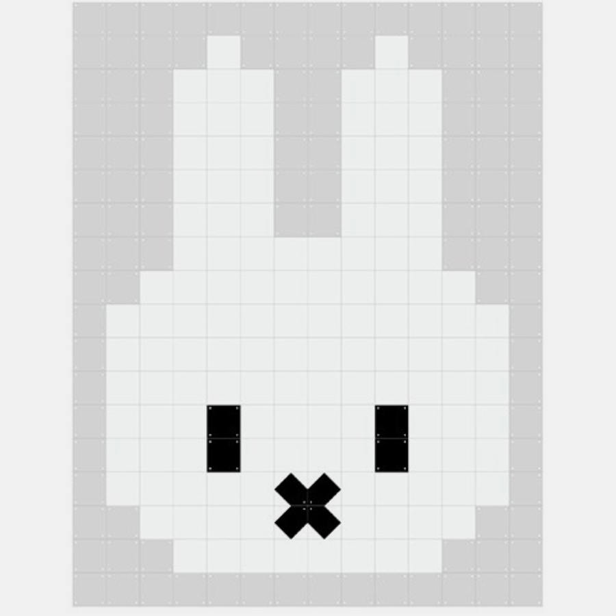 Miffy Pixel . Double Sided