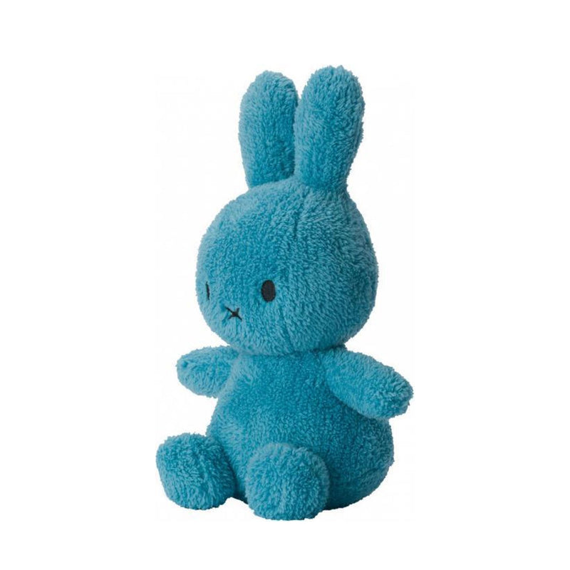 Miffy Sitting Terry Soft Toy 23cm , Ocean Blue