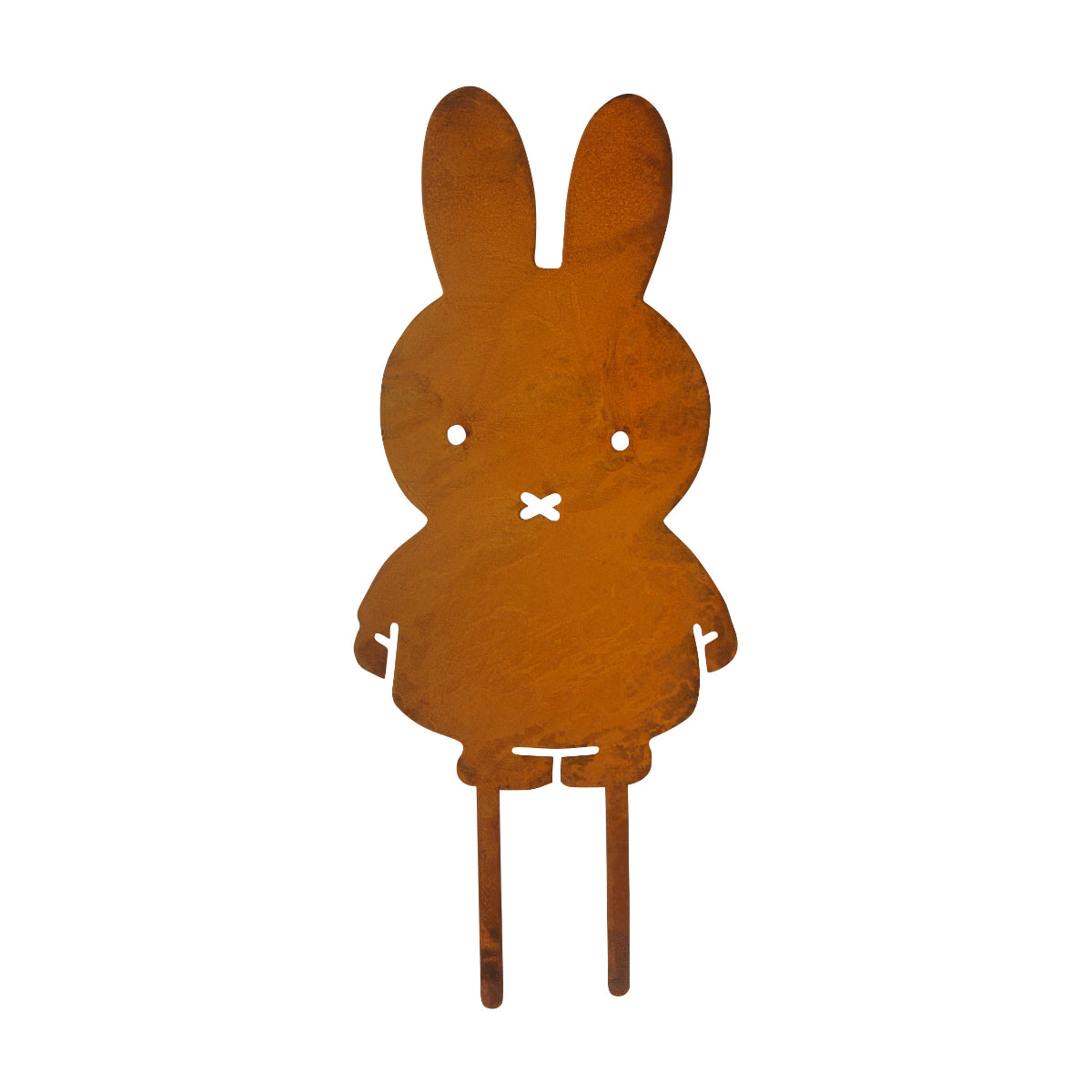 Pluto Miffy garden deco, rusted steel
