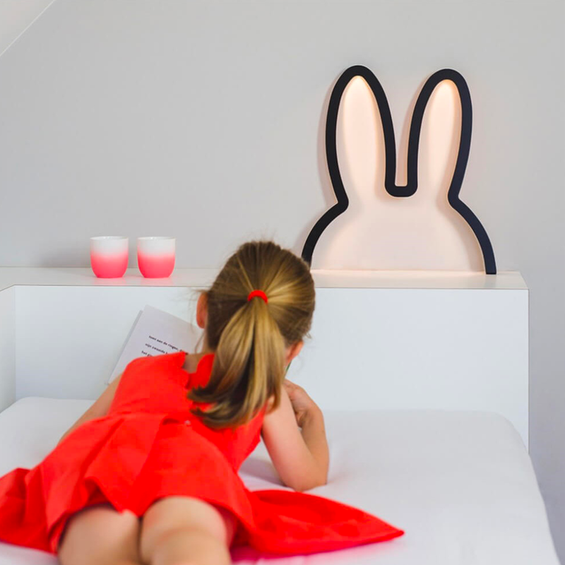 Miffy Head Shape Mood Light Medium , Black