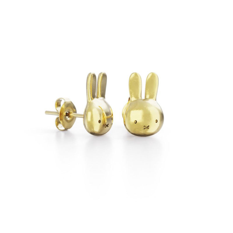 Miffy 18Ct Gold Vermeil Studs , Mini Head