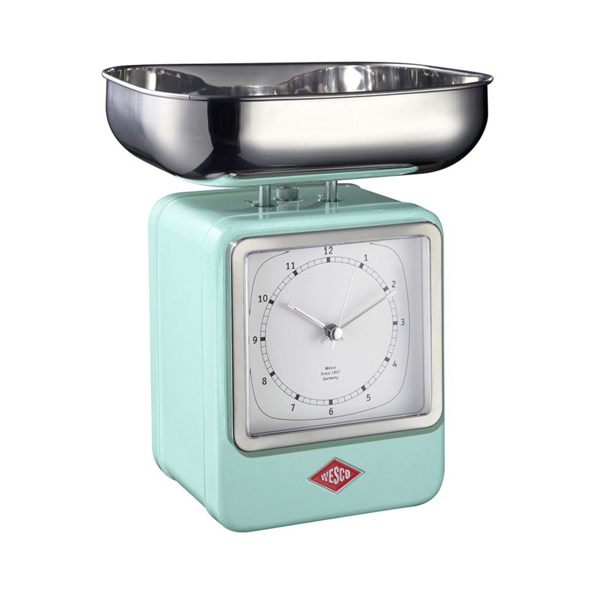 Wesco Retro Scale w. Clock , Mint