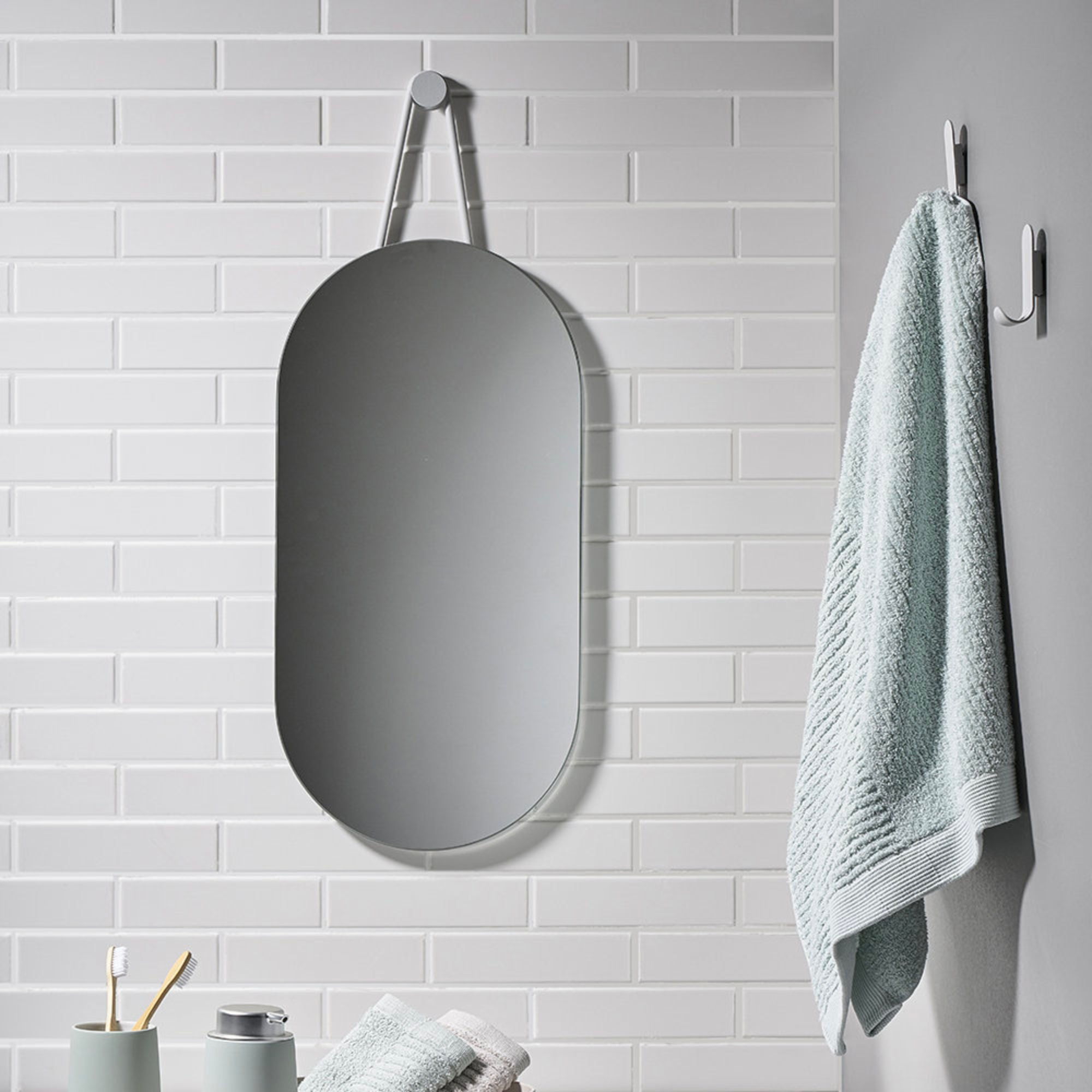Zone Denmark A Wall Mirror , Soft Grey