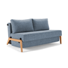 Innovation Living Cubed 02 Sofabed, 140cm, oak leg, 525 mixed dance light blue