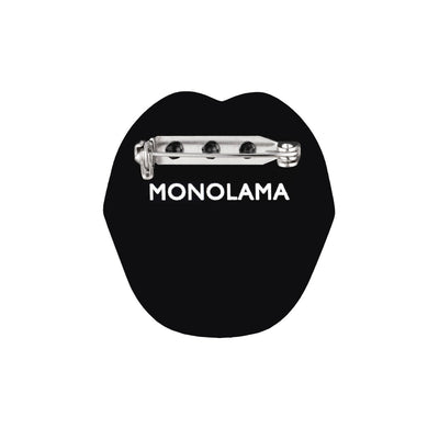 Monolama Acrylic Brooches red mouth