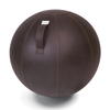 VLUV VEEL leather-like Fabric Seat & Yoga Ball . Mocca Brown