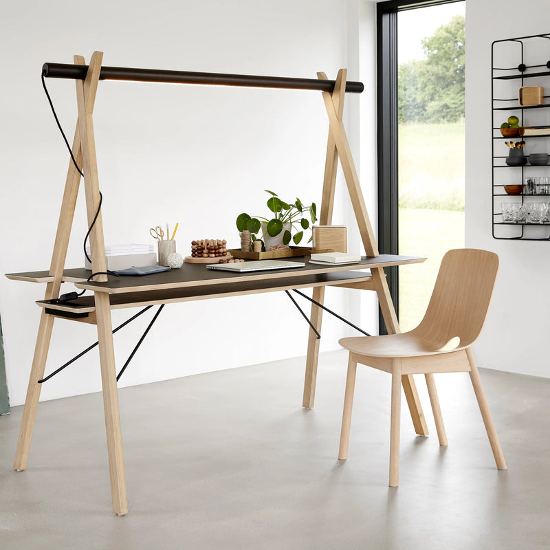 Woud Mono Dining Chair , White Pigmented Oak