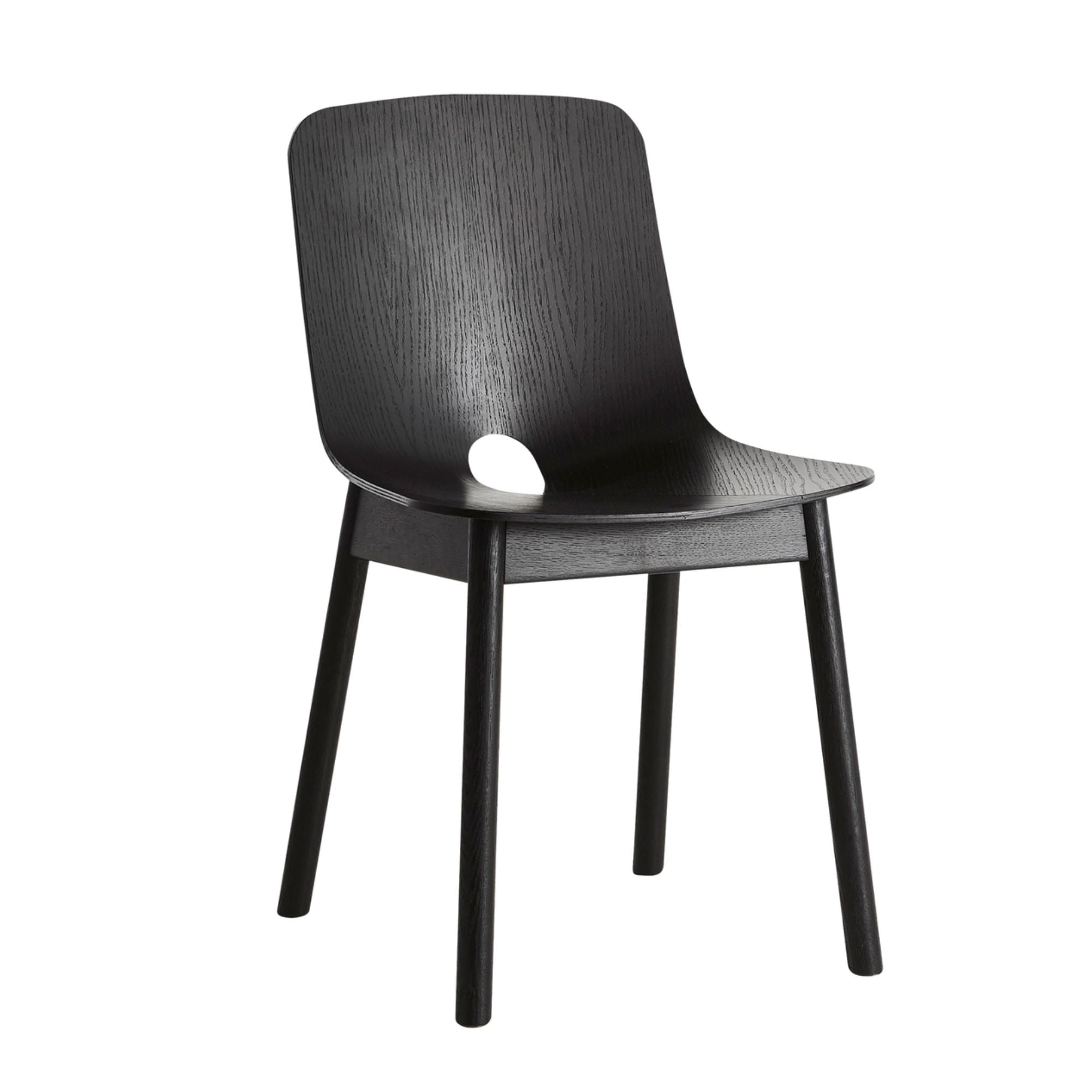 Woud Mono Dining Chair , Black Painted Oak
