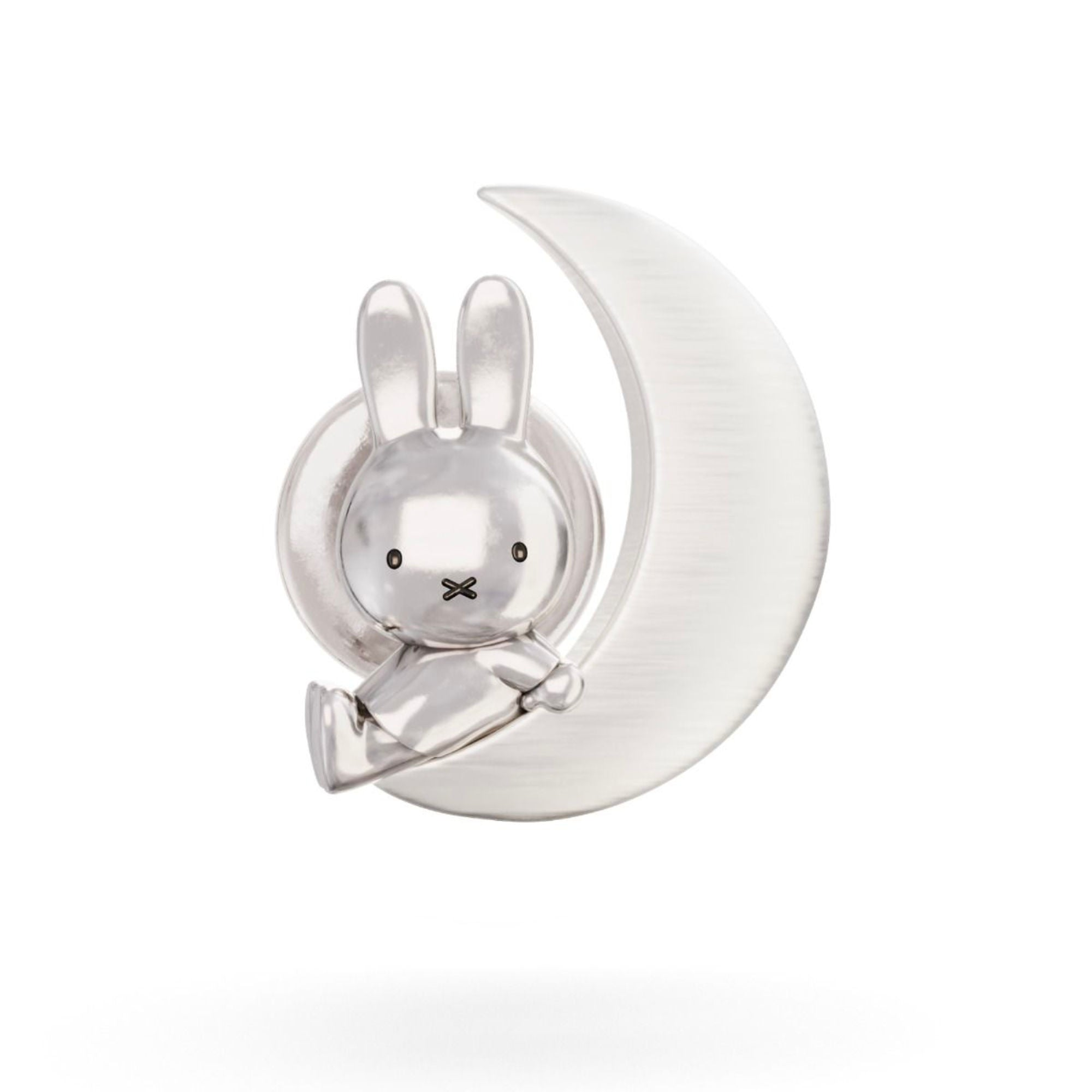 Miffy & The Moon Sterling Silver Pine Brooch