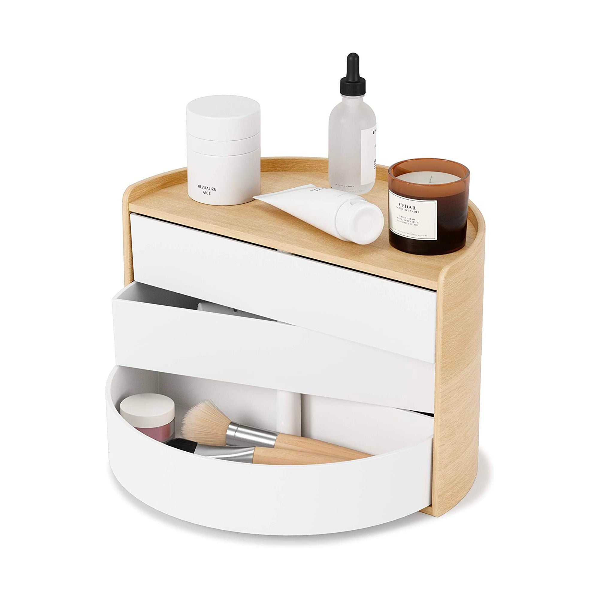 Umbra Moona Storage Box , White/Natural