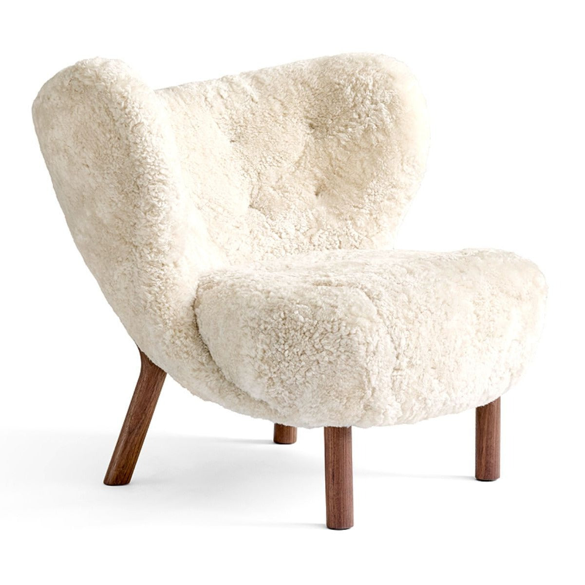 &Tradition Little Petra VB1 lounge chair, sheepskin 17mm moonlight