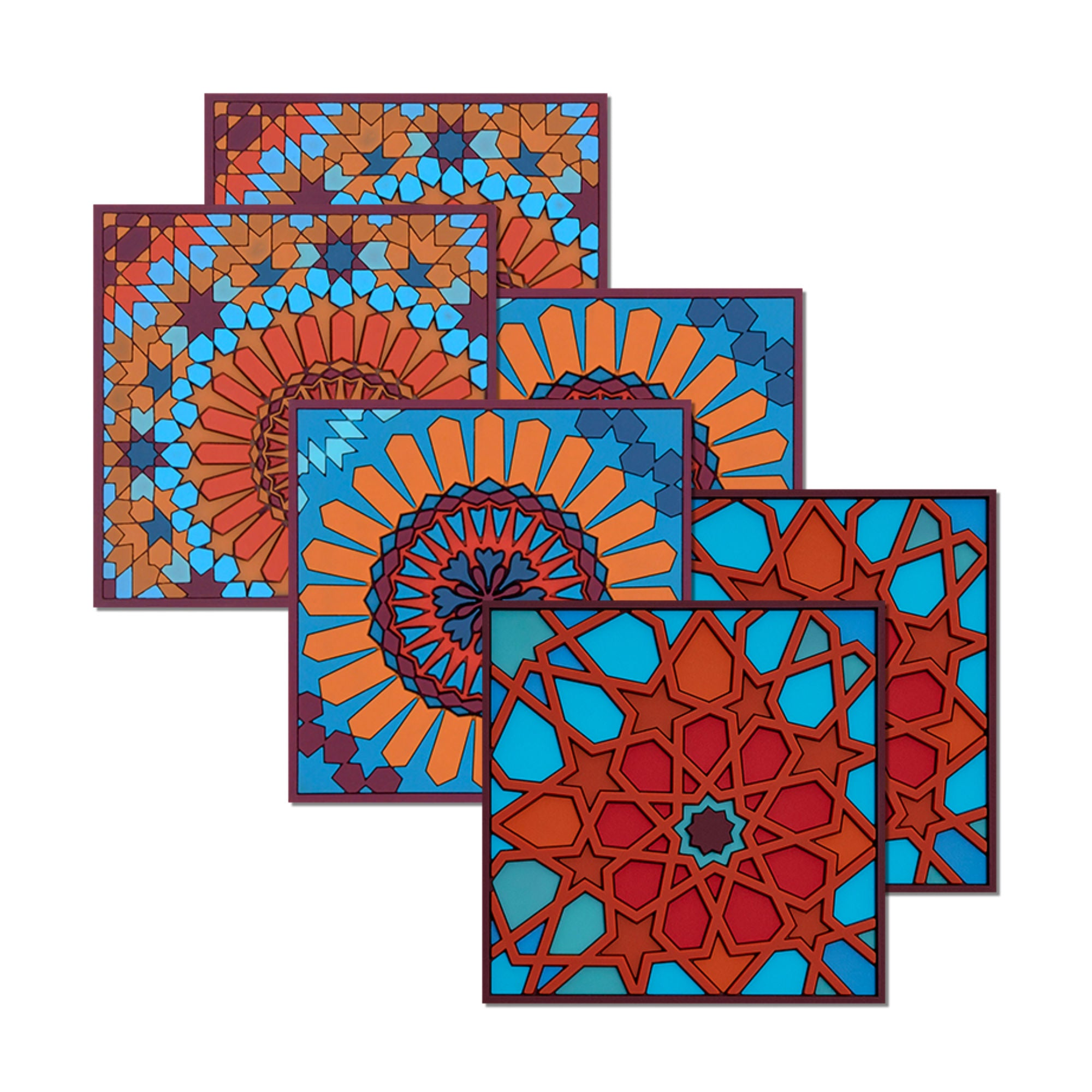 images d'orient Moucharabieh Coasters Set of 6