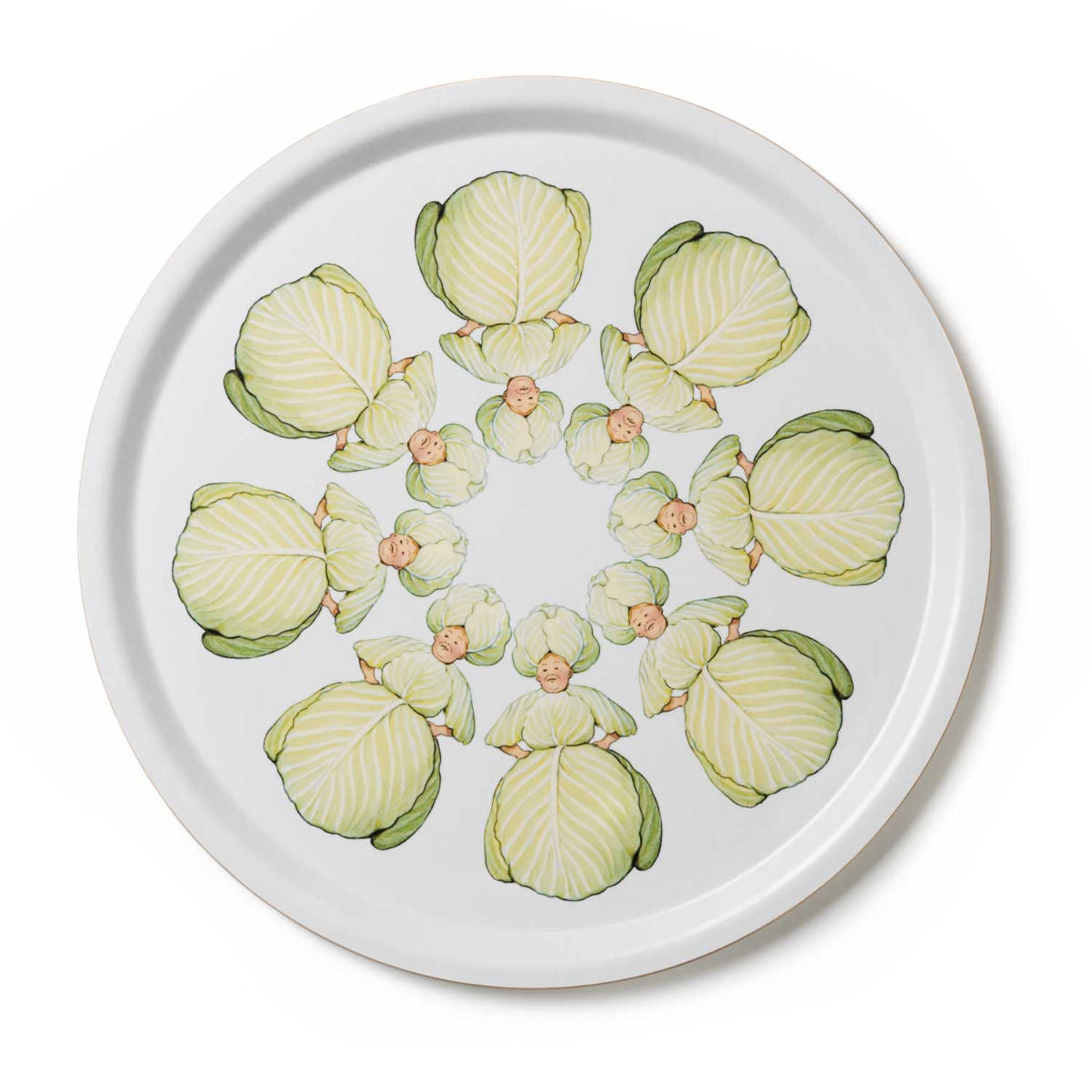 Design House Stockholm Elsa Beskow tray Ø35cm, mrs cabbage